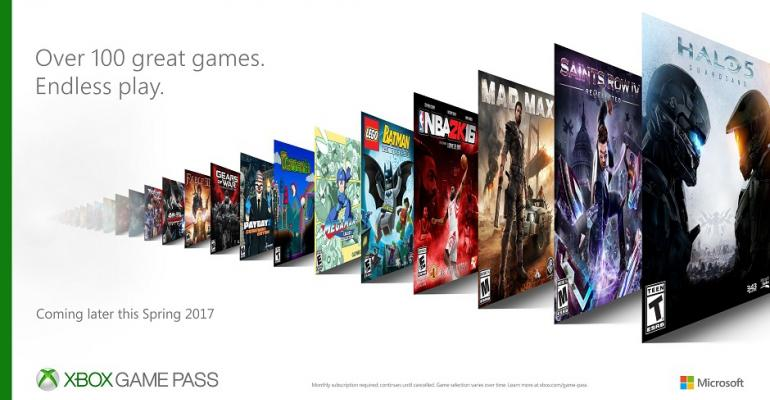 Microsoft will Offer a Library of over 100 Games in their Upcoming Xbox Game Pass Subscription