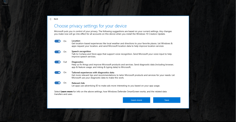 Microsoft Gives Users More Control in the Upcoming Windows 10 Creators Update