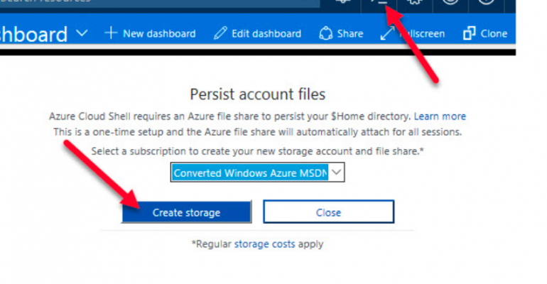 Access CLI 2 from Azure Portal