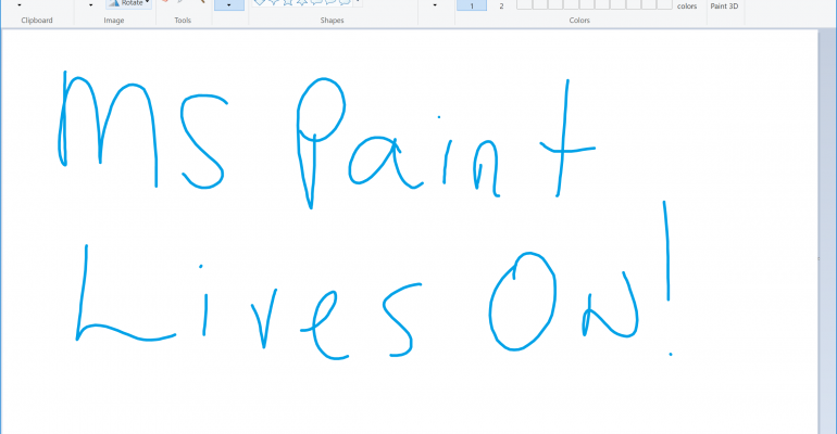 Microsoft Paint Receives a Reprieve and will Remain Available in the Windows Store