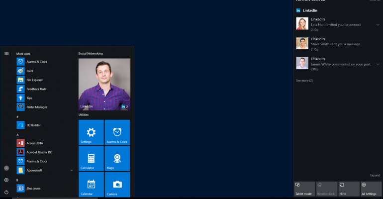 Offiical LinkedIn App for Windows 10 Released
