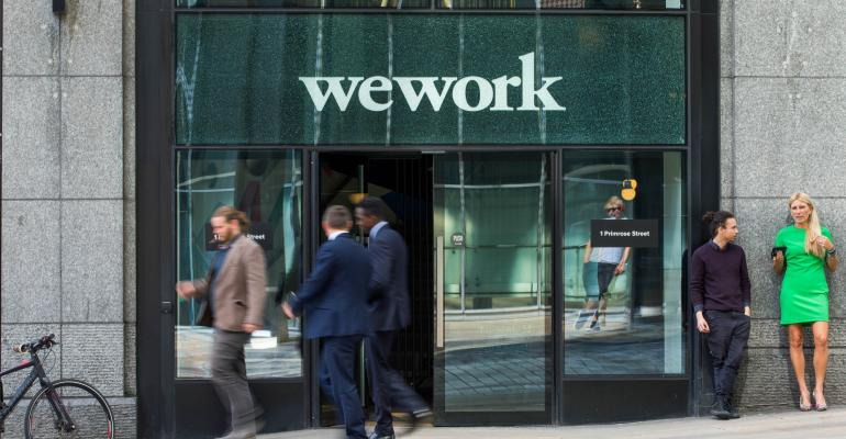 The exterior of WeWork's HQ