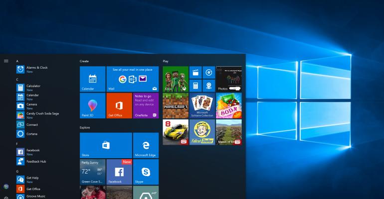 Windows 10 Fall Creators Update Desktop