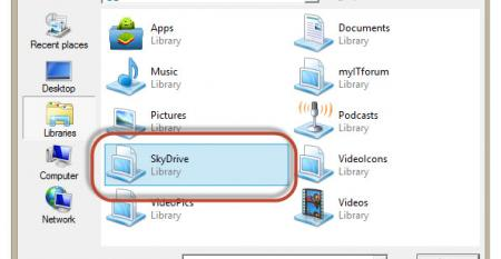 SkyDrive tip: Two methods for making SkyDrive Desktop available to apps that don't support it