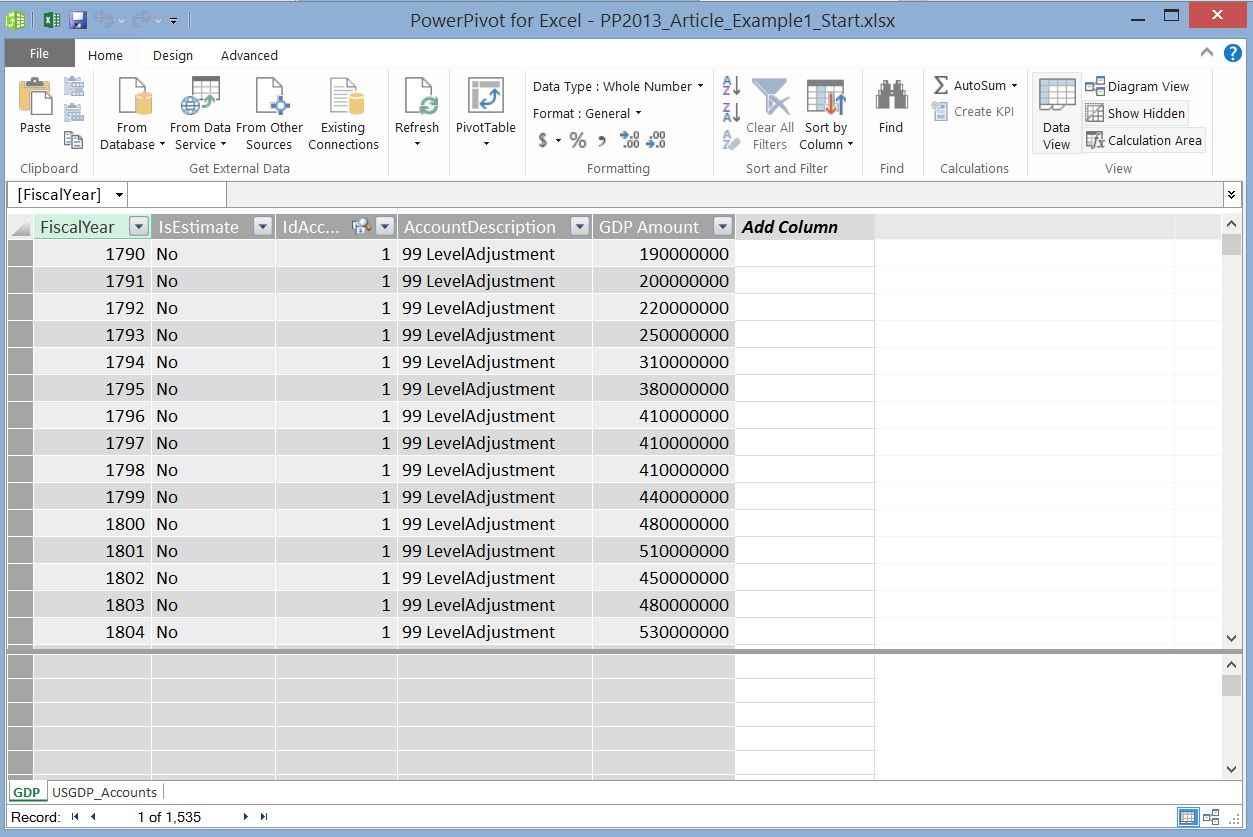 Understanding PowerPivot and Power View in Microsoft Excel 2013 ...