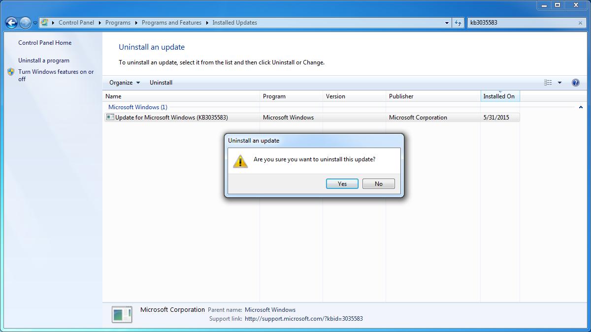 software updates in windows 10