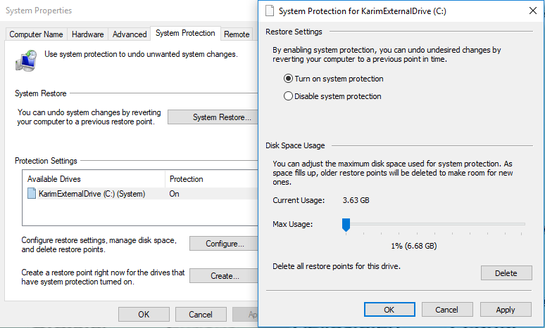 Use Automatic Restore Points On Windows 10 To Recover Your